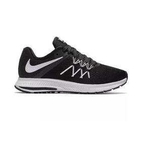 34518f455e Tenis Nike Wmns Zoom Winflo 3 Feminino Preto E Branco Orginl