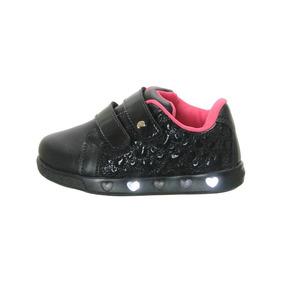 eef42d23bac Tênis Pampili Sneaker Luz Preto Verniz Nº 22 Ao 29