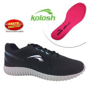7b14fbd054 Tênis Kolosh K8527 Feminino Tecido Chumbo preto