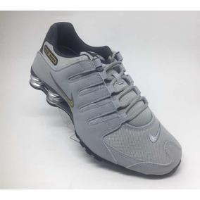 265a5407a82 Tenis Nike Shox Nz Cinza Claro 4 Molas Original 378341 008