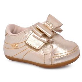 410b8edfc4 Tenis Klin Infantil Dourado - Calçados