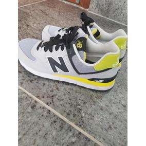 6452a6ee229 Tênis New Balance 574 Feminino Cinza E Amarelo