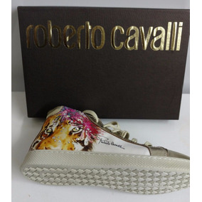 a13d7cc94f0ad Bota Coleção Primavera Roberto Cavalli Platin instam Tigre