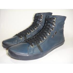 71404b14cfcae Tênis Couro Calvin Klein Club N Y C Cano Alto Orig Blue Navy
