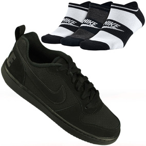 quality design 42638 486e5 Kit Nike 3 Meias + Tênis Court Borough Low Gs Juvenil Oferta