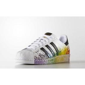 78ff3bd25 Tênis adidas Superstar Colorido Spray