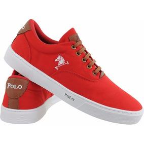 4fa16496d309b Tenis Masculino Polo Ralph Lauren - Tênis Vermelho no Mercado Livre ...