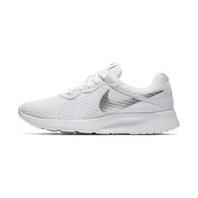 7ed4be5825e31 Tenis Nike Tanjun Blanco plata Mujer Original 812655-104