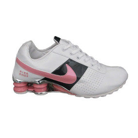 291c7b4870 Tenis Nike Shox Classic Branco E Rosa Nº38 Original Na Caixa