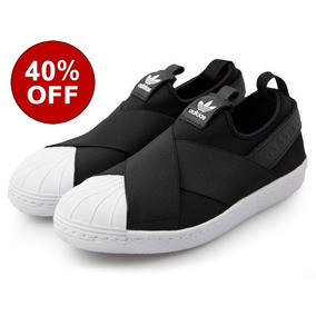 92e9d946975 Tenis adidas Slip On Superstar Unisex Original Black