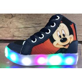 fce2edb7f16 Tênis Bota Luz Led Mickey Mouse Infantil 25 A 34 Promoção
