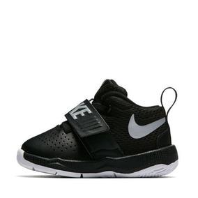 09cf3ebce20 Tenis Infantiles Nike Team Hustle8 Black Basquetball