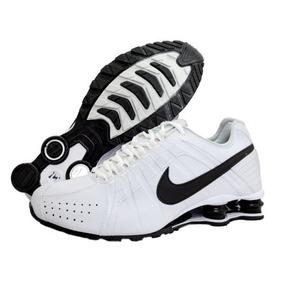 385e19aa4a4f Tênis Nike Shox Junior Classic Importado Branco Com Preto