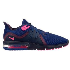 0170a468b0125 Tenis Nike Air Max Sequent 3 908993-403 Marino-rosa Dama Oi