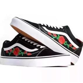 2ea364853b1 Tenis Vans Old Skool Flor Flores Original Rosas Mega Oferta