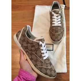 620d38f337136 Precio. Publicidad. Preciosos Tenis Gucci Signature Malletier Originales!