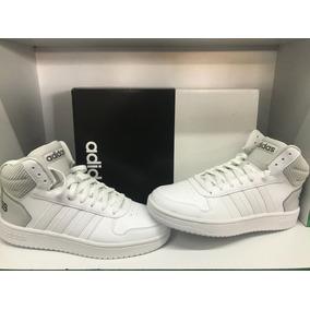 ff5ba7df18d Tenis adidas Hoops 2.0 Mid Color Blanco gris No. 5.5 Mx New