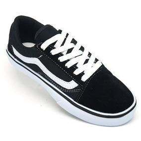 70f2ffb0e8f Tenis Vans Preto Com Uma Lista Branca Old Skool - Calçados