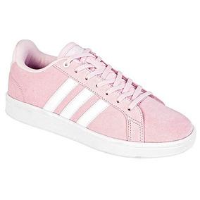 045b7af6f366f Tenis Adidas Advantage Mujer Blanco Con Rosa - Tenis en Mercado ...