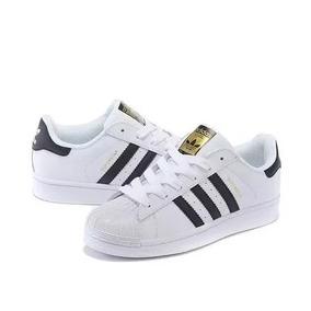 ef16b815377 Tênis Adidas Star 2 Unissex Branco Listra Preta 41 Novo - Calçados ...