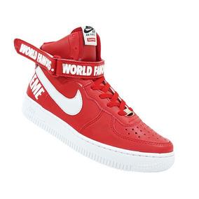 00acfe280922f Bota Nike Air Force 1 Supreme Cano Alto Masculino - Calçados