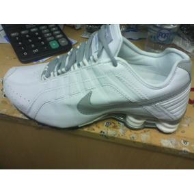pretty nice b680f 9d23b Tenis Nike Shox Junior Branco E Cinza Nº38 Ao 44 Original