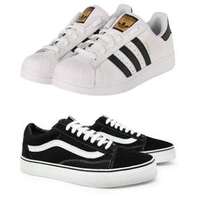 56738c3604a Tênis Adidas Star 2 Branco Listra Preta 41 Novo Feminino - Calçados ...