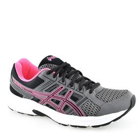 eeff14eb39d Tenis Asics Gel Contend Feminino Azul Pink Original + Nf - Calçados ...