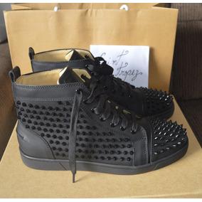 Sneaker Christian Louboutin Louis Spikes Black Autêntico !