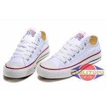 Tenis Zapatillas Converse All Star Blancas Para Dama