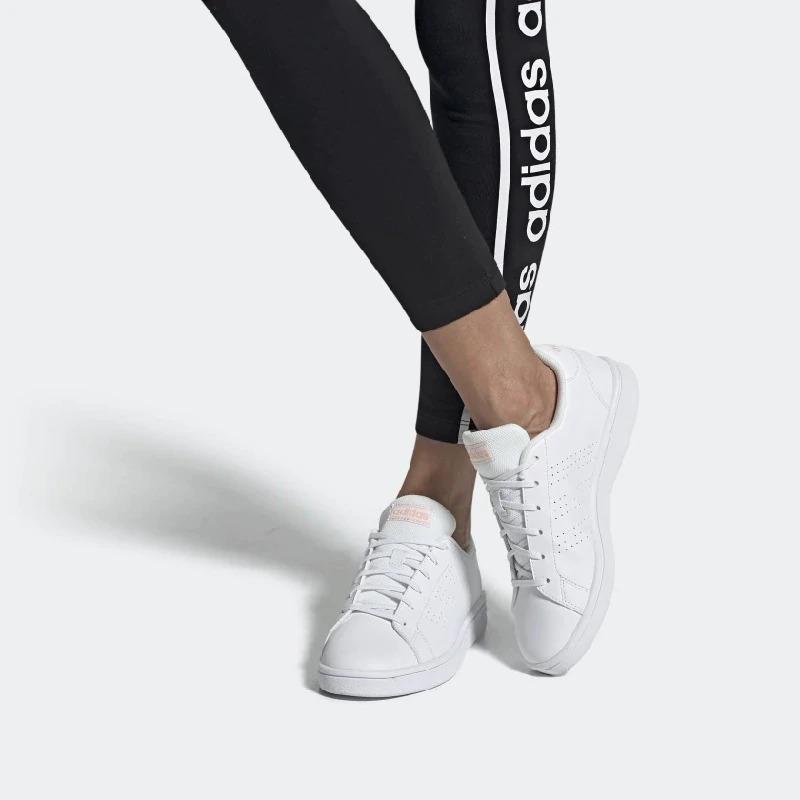 Tenis adidas Advantage Base Blanco Tallas De #22 A #27 Mujer