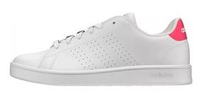 Tenis adidas Advantage Blanco Con Rosa Dama Casual/deportivos Originales  Comodos