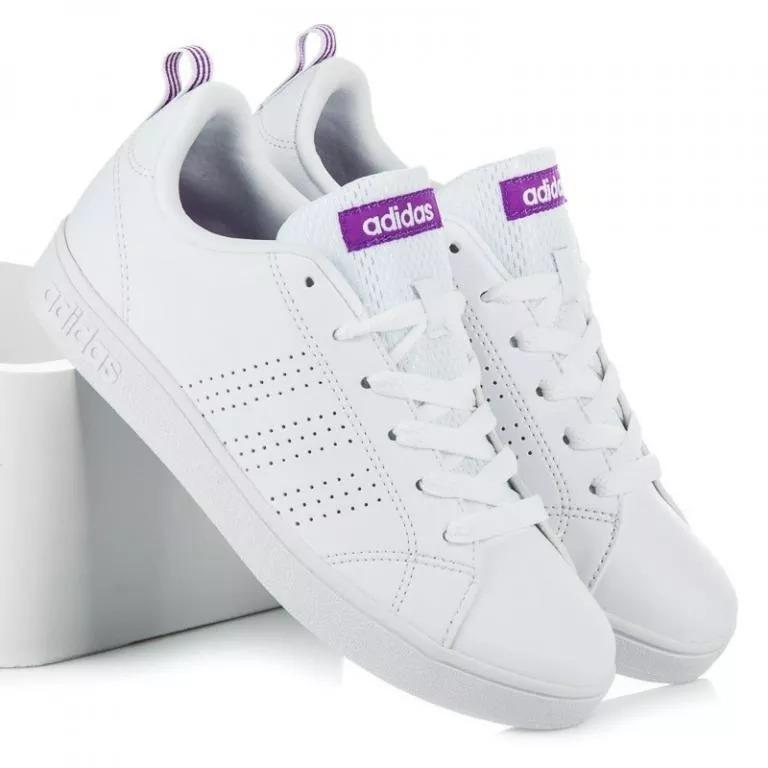 45f5b5abc37f2 Tenis adidas Advantage Blanco Con Violeta -   999.00 en Mercado Libre