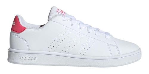 tenis adidas advantage blanco/rosa originales ef0211