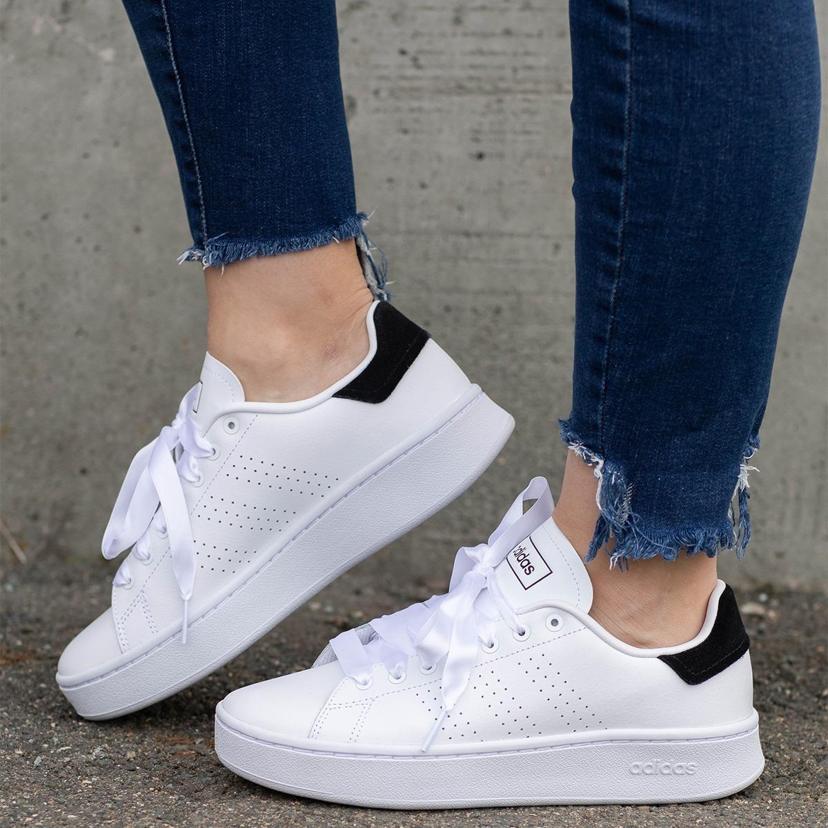 Tenis adidas Advantage Bold Blanco Tallas De #23 A #26 Mujer