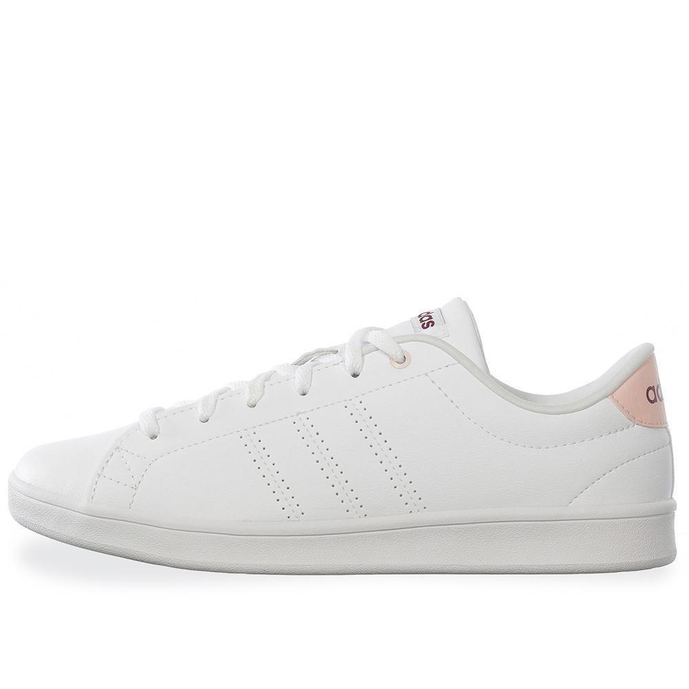 zapatillas adidas neo advantage clean qt blanco rosa claro mujer