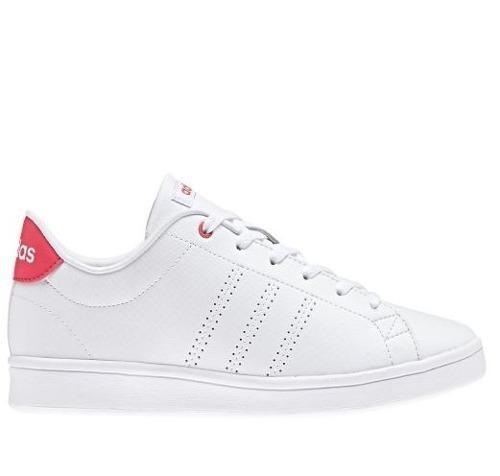 online retailer 431e8 89f52 tenis adidas- advantage clean qt - blanco rosa -mujer-db1844