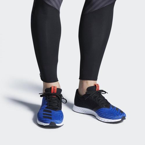 tenis adidas aerobounce azul negro correr running