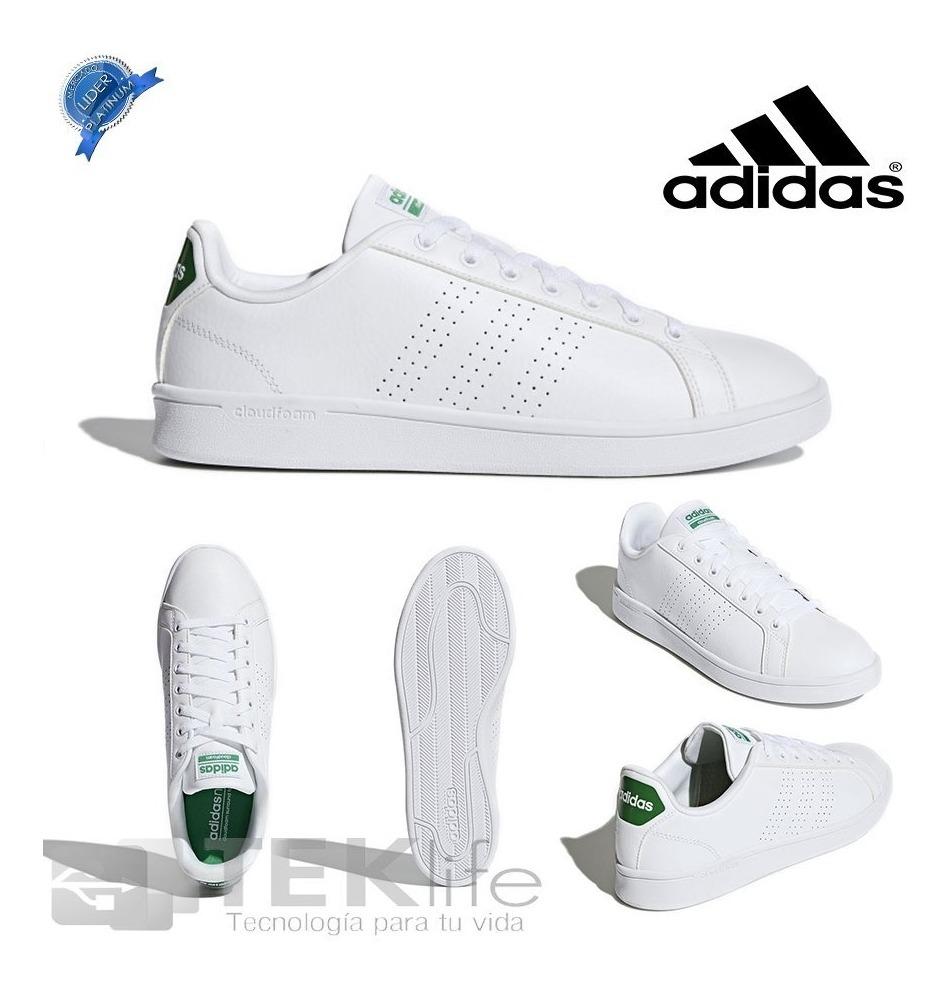 Tenis adidas Cloudfoam Advantage Clean Blancoverde Original