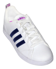 Tenis adidas Color Blanco Azul Marino Lila Vs Advantage