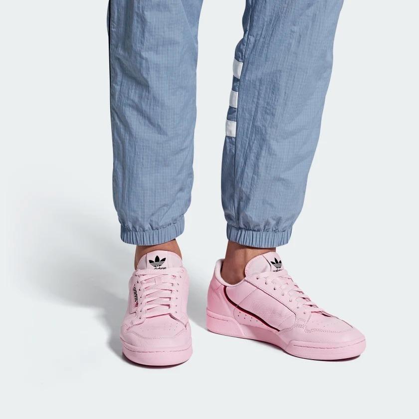 Tenis adidas Continental 80 Rosa Hombre Nuevo Original