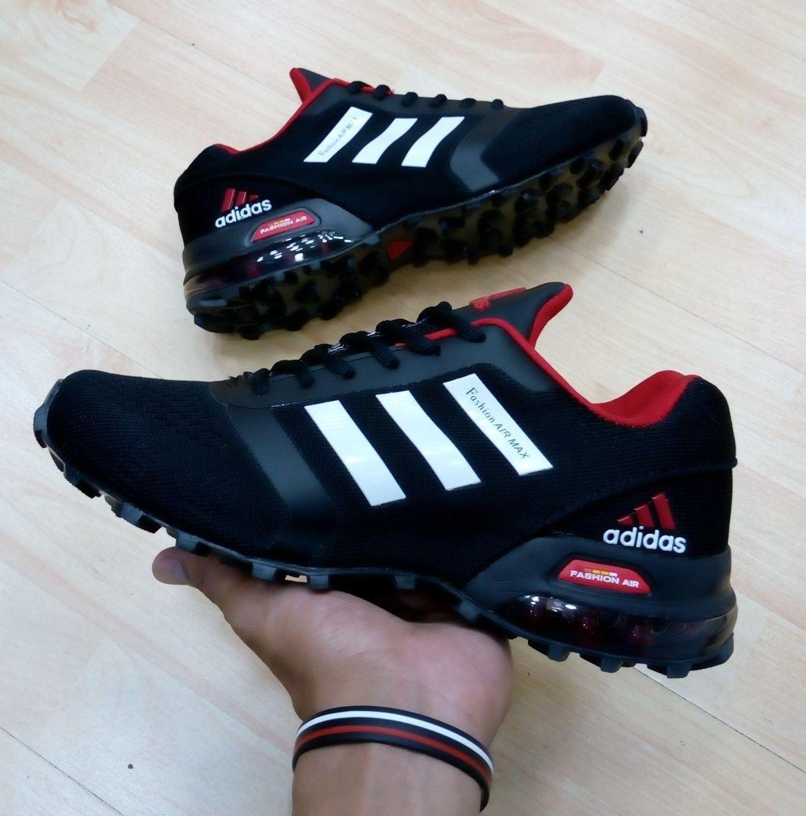 size 40 81ad2 0774b Tenis adidas Fashion Air Max Negras Con Rojo, Zapatillas.