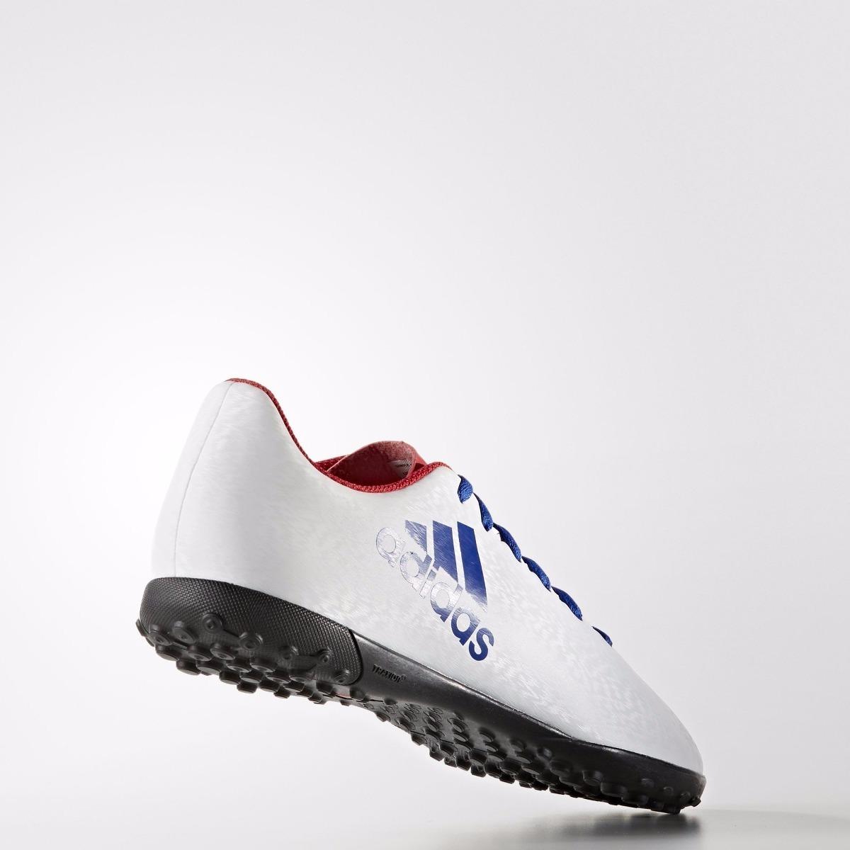 Tenis adidas Futbol Rápido X16.4 Tf Blanco Azul Bb4003 Dama