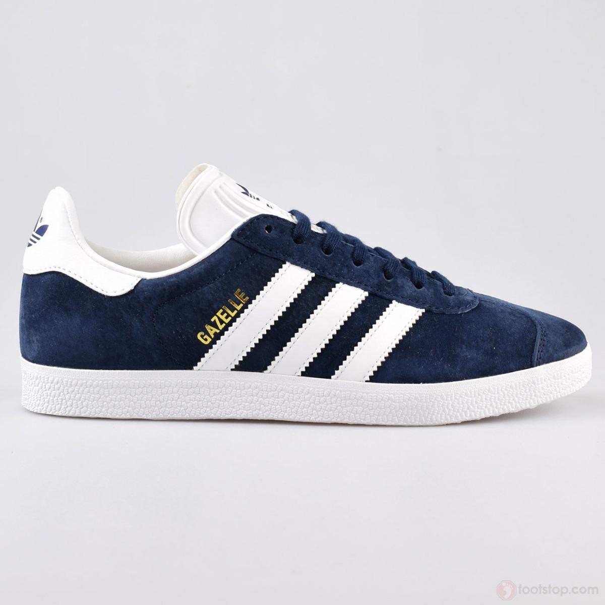 25c5b196d76 Tenis adidas Gazelle Azules Con Blanco Hombre