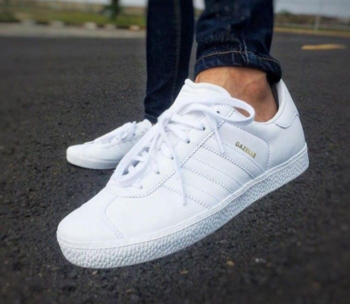 gazelle adidas blanco