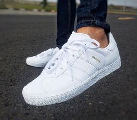 Caja Blancos En Adidas Gazelle Tenis n0wm8N