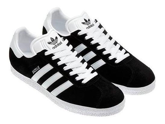 adidas gazelle negra y blanca
