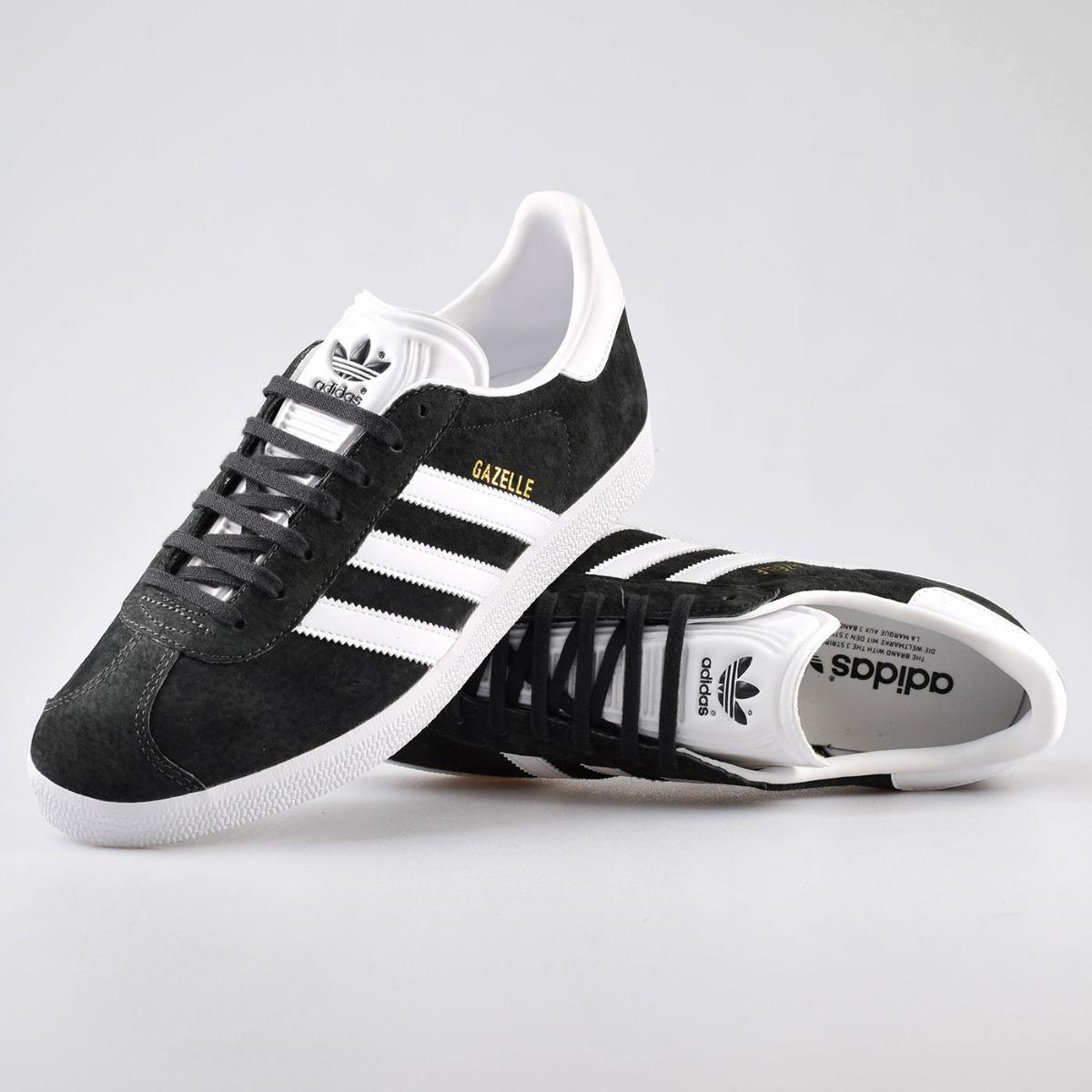ca7c0532f52ef Tenis adidas Gazelle Negras Con Blanco Hombre