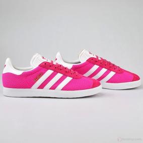 gazelle adidas hombre rosa