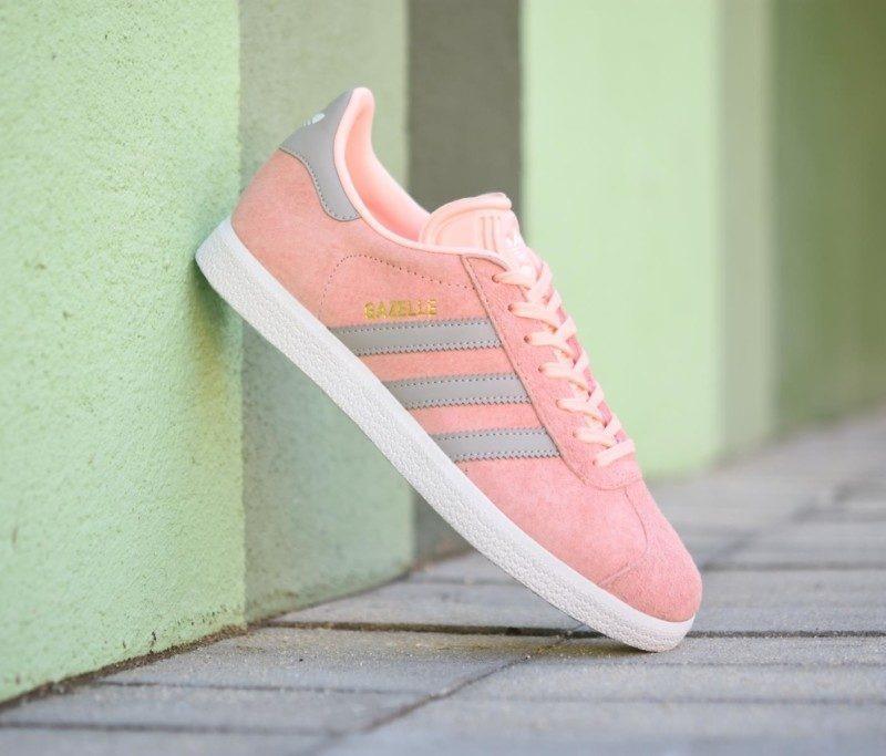 adidas gazelle rosas y gises